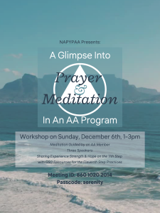 11th Step Workshop - hosted by NAPYPAA @ Zoom