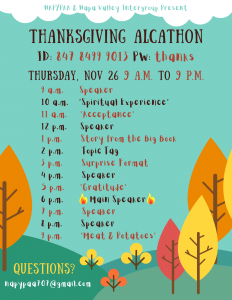Thanksgiving Alcathon (& pie delivery) - hosted by NAPYPAA @ Zoom